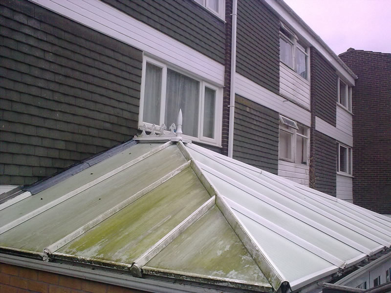 Conservatory Roof Cleaned In Worcestershire